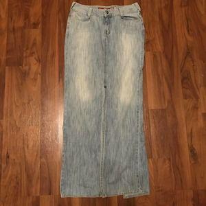 Guess Jeans Vintage Denim Skirt Straight